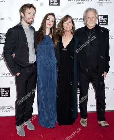 Stock Photo of Jesse Kristofferson, Kristy Alexander, Lisa Kristofferson and Kris Kristofferson