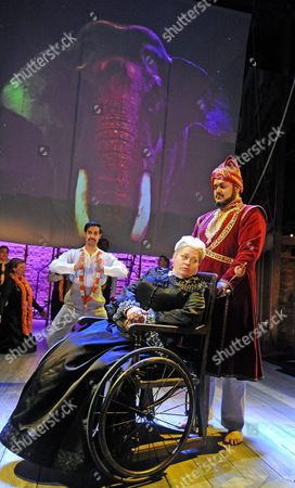 Stock Image of Ankur Bahl, Tony Jayawardena, Beatie Edney as Queen Victoria