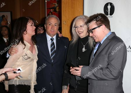 Lara Flynn Boyle, Lorne Michaels, Penelope Spheeris and Mike Myers