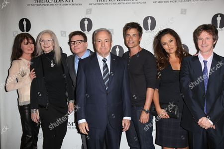 Lara Flynn Boyle, Penelope Spheeris, Mike Myers, Lorne Michaels, Rob Lowe, Tia Carrere and Dana Carvey