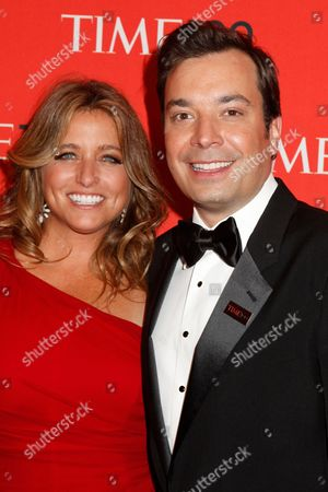 Stock Picture of Nancy Juvonen and Jimmy Fallon