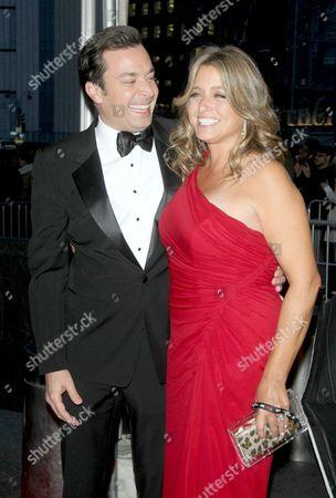 Jimmy Fallon and Nancy Juvonen