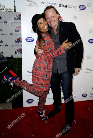 Stock Picture of Downtown Julie Brown and husband Martin Schuemann