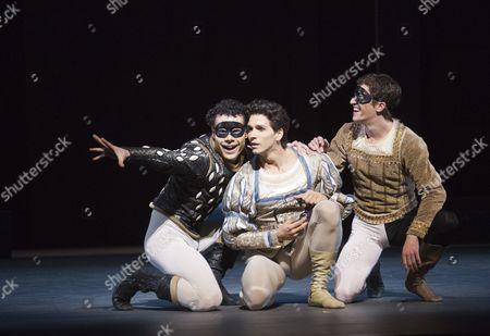 'Romeo and Juliet' -  Piotr Stanczyk as Mercutio, Guillaume Cote as Romeo and Robert Stephen as Benvolio