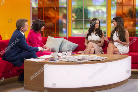 Aled Jones and Lorraine Kelly with Laura Summers and Lizzie Cundy