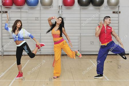 Stock Image of Jade Ewen, Vicky Zagarra and Louis Smith MBE