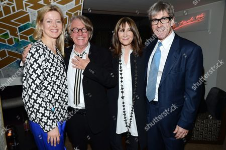Lady Helen Taylor, Frank Cohen, Cheryl Cohen-Greene  and Timothy Taylor