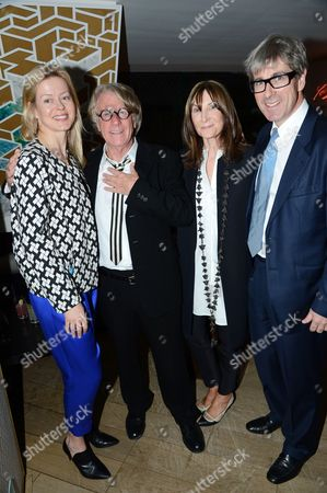 Stock Image of Lady Helen Taylor, Frank Cohen, Cheryl Cohen-Greene and Timothy Taylor