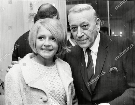The Variety Club Ladies Luncheon At The Dorchester With Television Hostess Monica Rose And Actor George Raft.