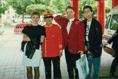 Lead singer Clark Datchler (2nd right) and bandmate Mike Nocito (right) in south east Asia in 1989