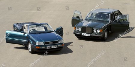 A 1991 Bentley Turbo RL once owned by Prince Charles and a 2.5l Audi Quatro once owned Princess Diana
