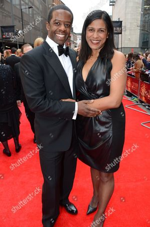 Editorial photo of Olivier Awards, Arrivals, Royal Opera House, London, Britain - 28 Apr 2013
