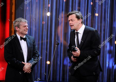 Mark Haddon and Simon Stephens (Mastercard best New Play for The Curious Incident of the Dod in the Night-Time)