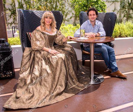 Stock Picture of Princess SophieAudouin-Mamikonian and NicolasAtlan, President of Kabillion & Moonscoop LLC