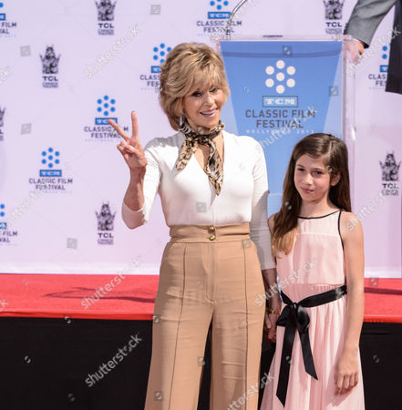 Editorial photo of Jane Fonda Hand and Footprint Ceremony, Los Angeles, America - 27 Apr 2013