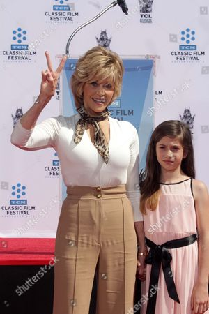 Editorial picture of Jane Fonda Hand and Footprint Ceremony, Los Angeles, America - 27 Apr 2013