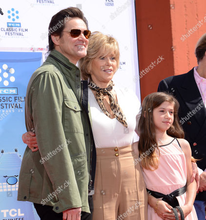 Jim Carrey, Jane Fonda and Viva Vadim
