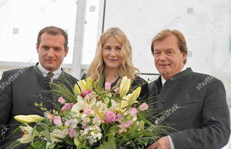 Dieter Ehrengruber, Daryl Hannah and Michael Aufhauser