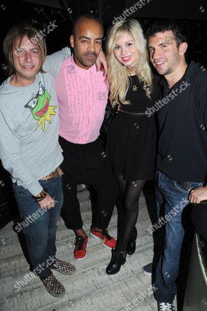 Stock Photo of Nina Nesbitt, Jake Gosling, Paul Murashe and John Woolf