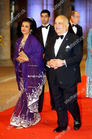 Princess Sarvath El Hassan and Prince Hassan bin Talal
