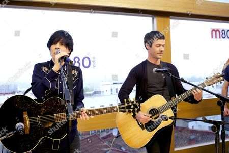 Editorial picture of Texas accoustic set live for M80 Radio Station at Mercure Hotel, Madrid, Spain - 29 Apr 2013