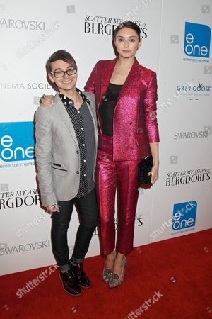 Stock Image of Christian Siriano and Anna Schilling