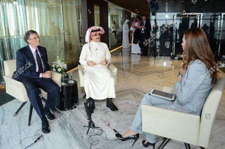 Bill Gates with HRH Prince Al-Waleed bin Talal