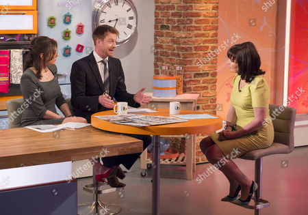 Katie Nicholl and Olly Kendall with Lorraine Kelly
