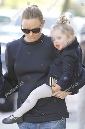 Editorial photo of Stella McCartney, husband Alasdhair Willis with daughter, London, Britain - 30 Apr 2013
