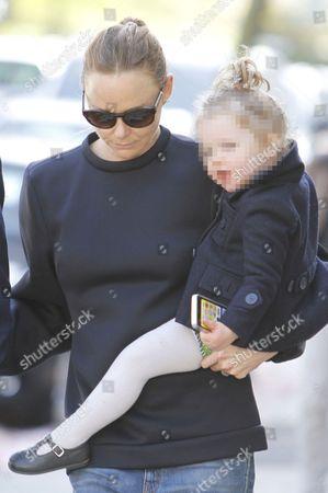 Editorial image of Stella McCartney, husband Alasdhair Willis with daughter, London, Britain - 30 Apr 2013