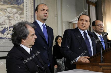 Renato Brunetta, Angelino Alfano, Silvio Berlusconi, Renato Schifani