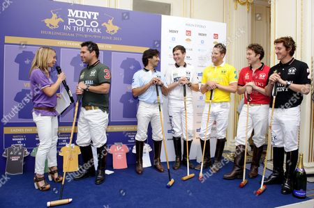 Abi Griffiths with Polo players
