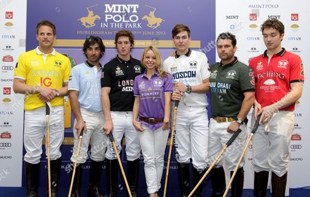 Stock Image of Abi Griffiths with Polo players