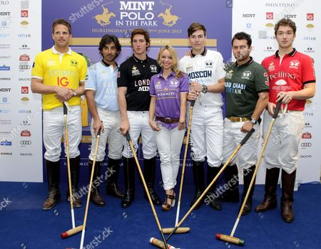 Stock Photo of Abi Griffiths with Polo players