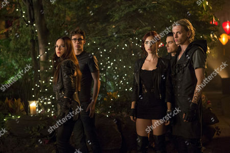 The Mortal Instruments City of Bones - Jemima West, Robert Sheehan, Lily Collins, Kevin Zegers and Jamie Campbell Bower