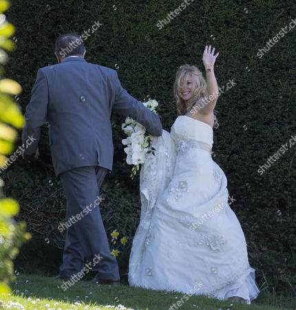 Editorial picture of Pete Conway and Melanie Mills Wedding at Compton Bassett, Wiltshire, Britain - 01 May 2013