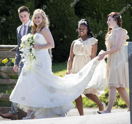 Stock Image of Melanie Mills with her bridesmaids