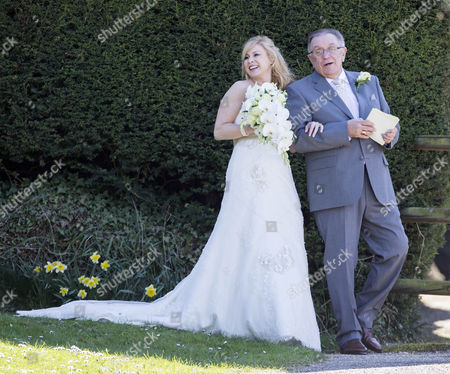 Editorial photo of Pete Conway and Melanie Mills Wedding at Compton Bassett, Wiltshire, Britain - 01 May 2013