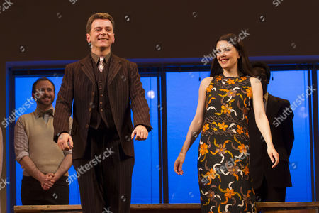 Stock Photo of Glyn Kerslake (Joe Josephson) and Josefina Gabrielle (Gussie Carnegie) during the curtain call