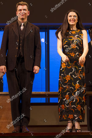 Stock Picture of Glyn Kerslake (Joe Josephson) and Josefina Gabrielle (Gussie Carnegie) during the curtain call