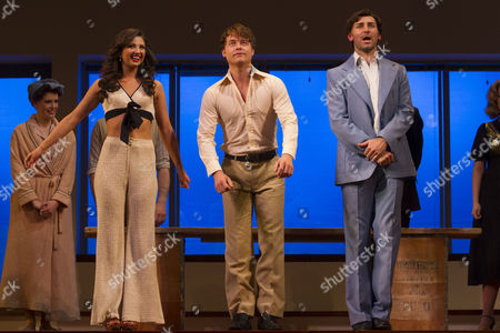 Zizi Vaigncourt-Strallen (Meg Kincald), Ashley Robinson (Tyler) and Robbie Scotcher (Jerome) during the curtain call