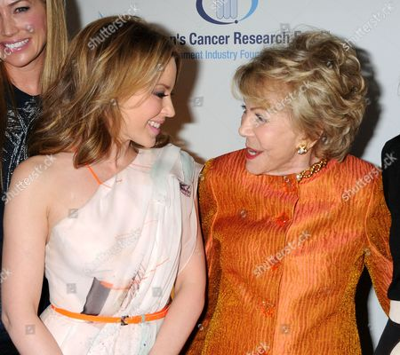 Kylie Minogue and Anne Buydens