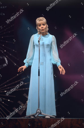 Stock Image of Isabelle Aubret representing France singing 'La source'
