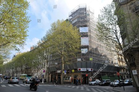 Stock Image of Apartment building where Thomas Fabius bought a flat