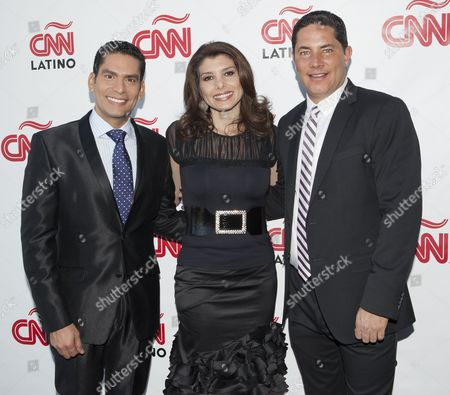 Stock Photo of Ismael Cala, Patricia Janiot and Fernando Del Rincon