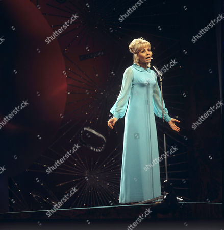 Stock Photo of Isabelle Aubret representing France singing 'La source'
