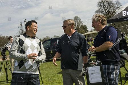 Dom Joly, Warren Clarke and Simon Kelner