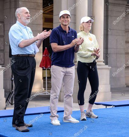 Tim Turnham, Rob Lowe and Hillary Fogelson