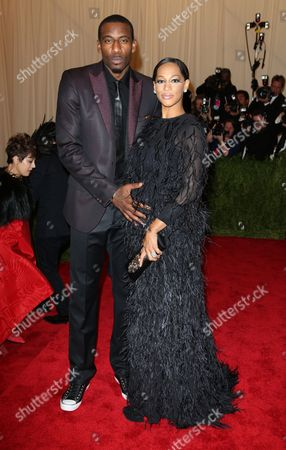 Amar'e Stoudemire and wife Alexis Welch