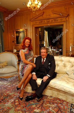 Construction Magnate Sir William Mcalpine And Fiancee Judy Nicholls Who He Has Since Married. She Is His Second Wife.